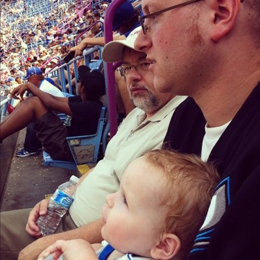 3 Generations; Saba, The Dad and Peanut. Father's Day 2013