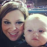 Peanut and I at a game in August 2012.