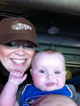 At Peanut's first Jays game